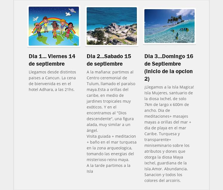 Dia 1... Viernes 14 de septiembreLlegamos desde distintos paises a Cancun. La cena de bienvenida...